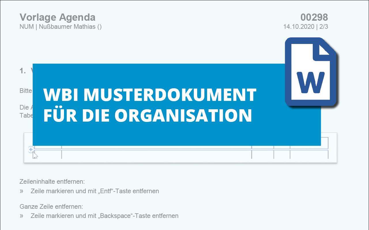 WBI-Vorlage-Agenda