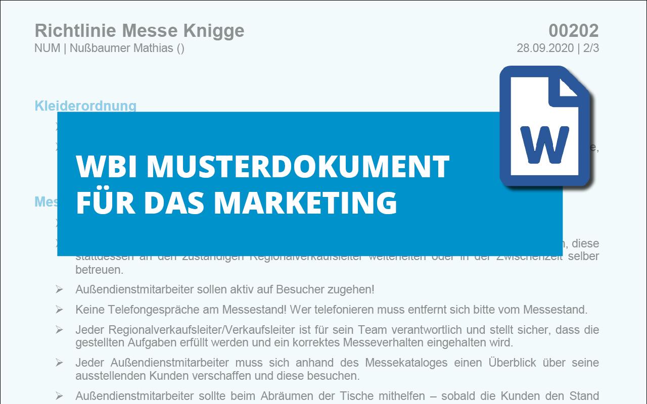 WBI-Richtlinie-Messe-Knigge-md